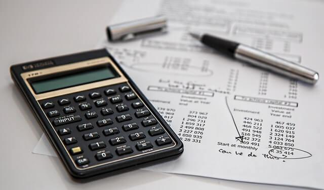 電卓と価格決算