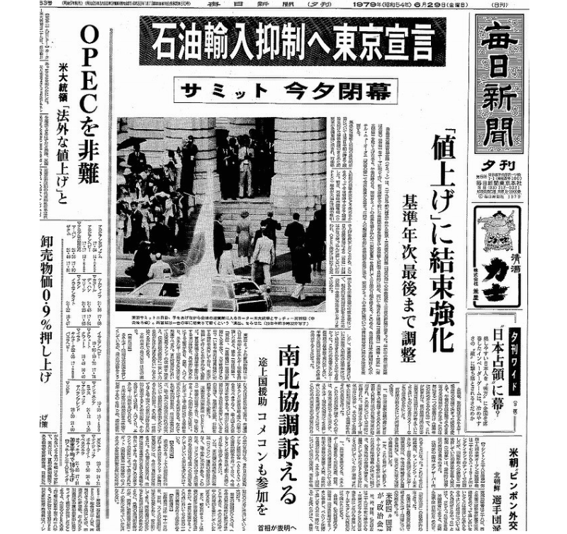 毎日新聞「第二次オイルショック」