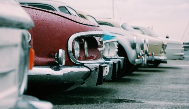 並べられた車